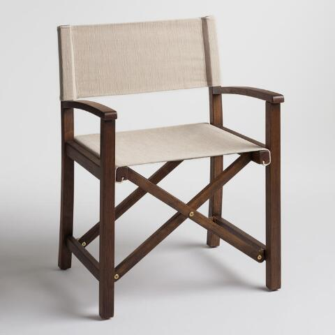 Ivory Ryker Director Chair Canvas Cover World Market