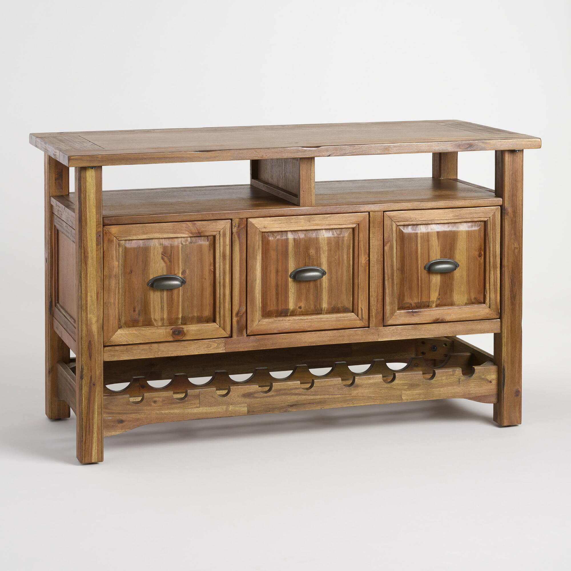 Wine Storage Sideboards Bar Cabinets World Market - Furniture storage