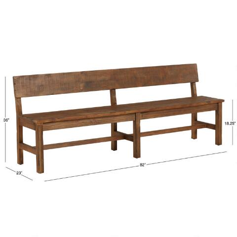 Distressed Brown Wood Gulianna Extra Long Dining Bench World Market