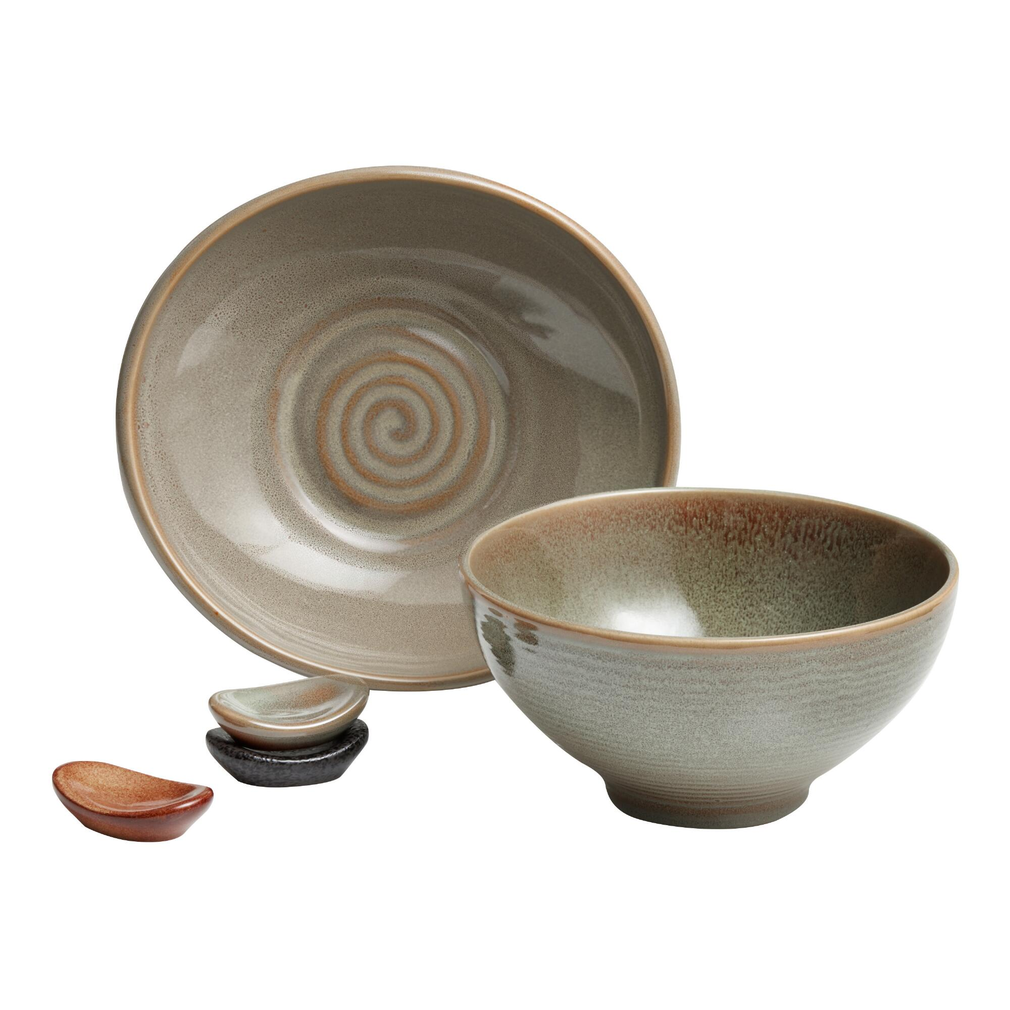 Green Zen Dinnerware Collection by World Market
