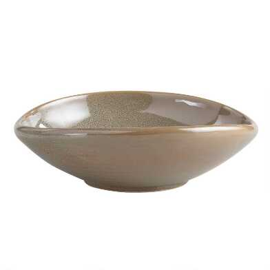 Green Zen Shallow Salad Bowls Set of 2