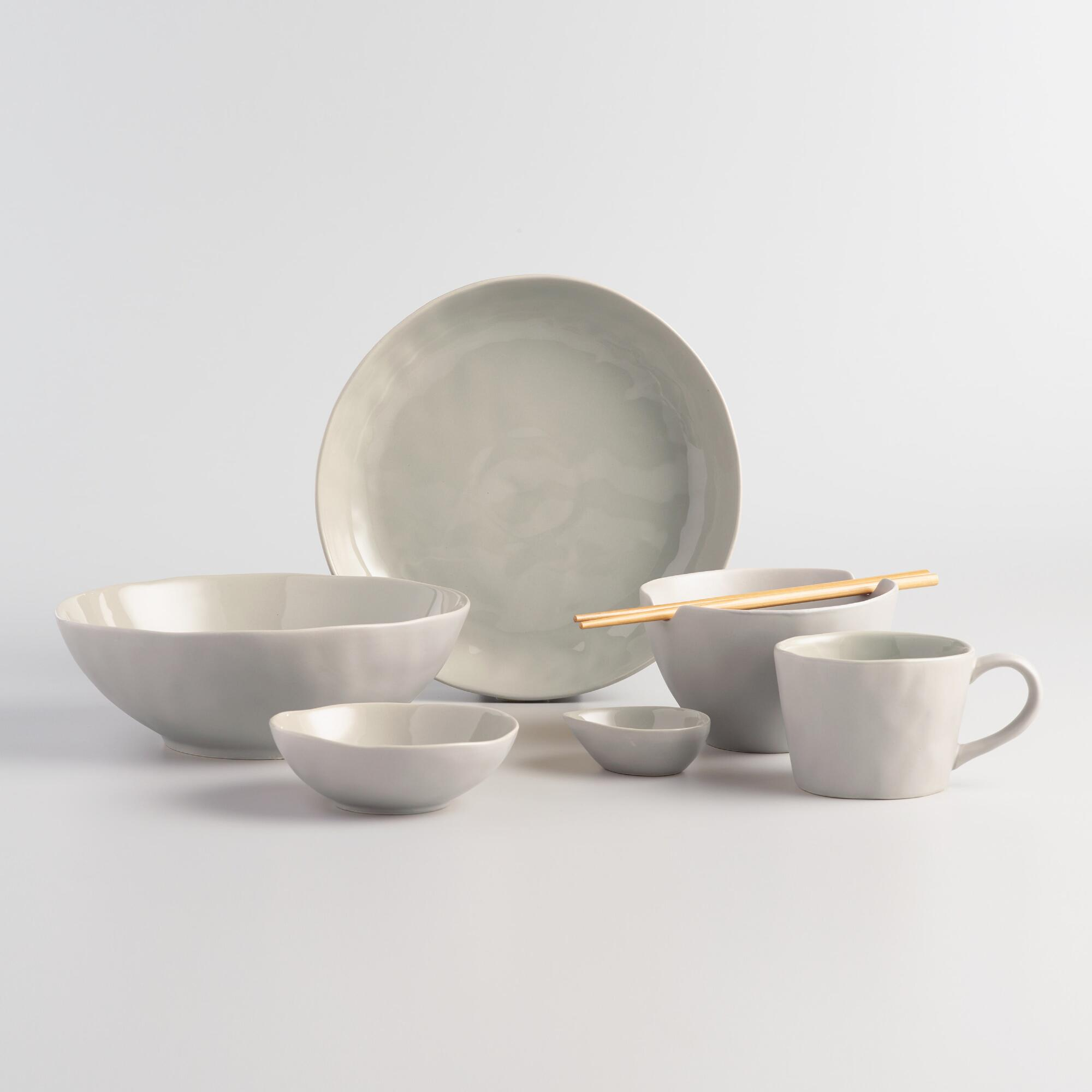 Stone Gray Element Dinnerware Collection by World Market