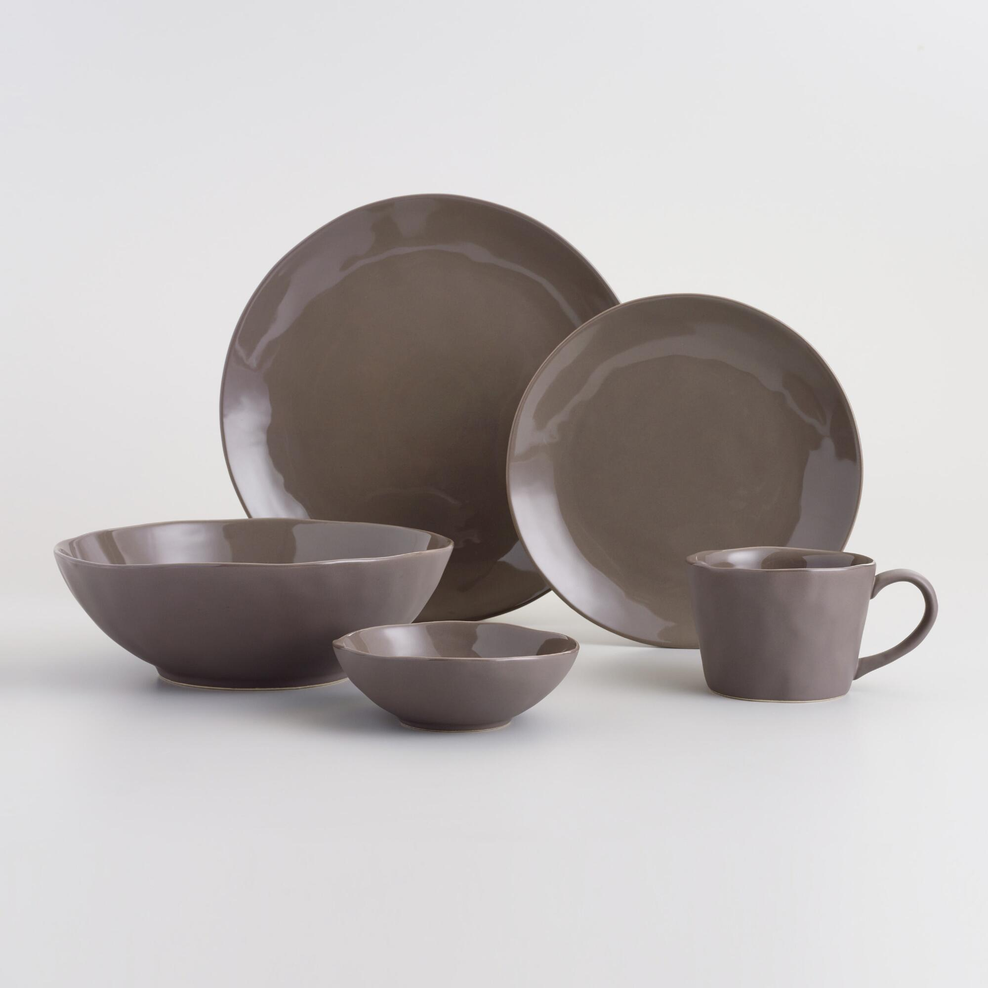 Charcoal Element Dinnerware Collection by World Market