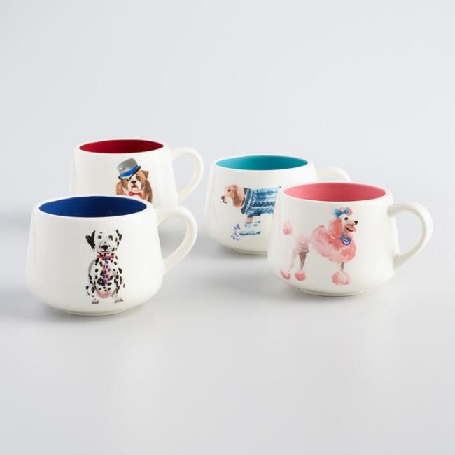 Posh Pet Dog Mugs Set of 4
