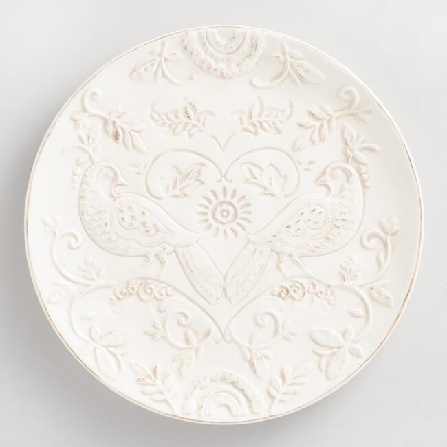 Floral Debossed Heidi Salad Plates Set of 4