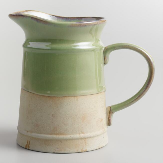 Glazed Ceramic 30 Ounce Pitcher