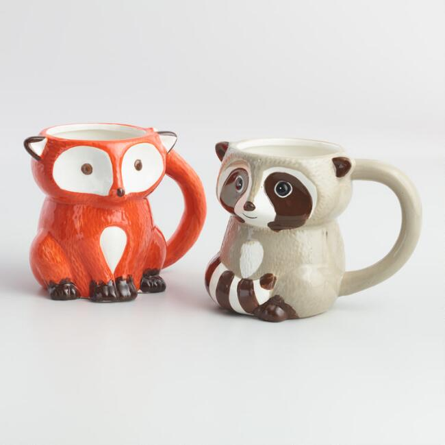 Woodland Mugs Set of 2