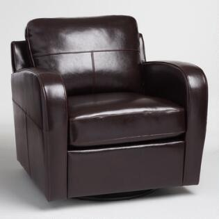 Espresso Bi Cast Leather Mason Swivel ChairLiving Room Chairs  Arm   Slipper Chairs   World Market. Electric Chair Repairs Gold Coast. Home Design Ideas