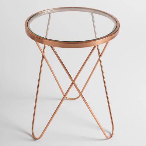 Rose Gold Tomlin Accent Table With Gl Top Previous V4 V1