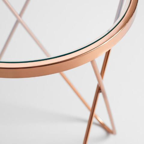 Rose Gold Tomlin Accent Table With Gl Top Previous V4 V1 V2 V3