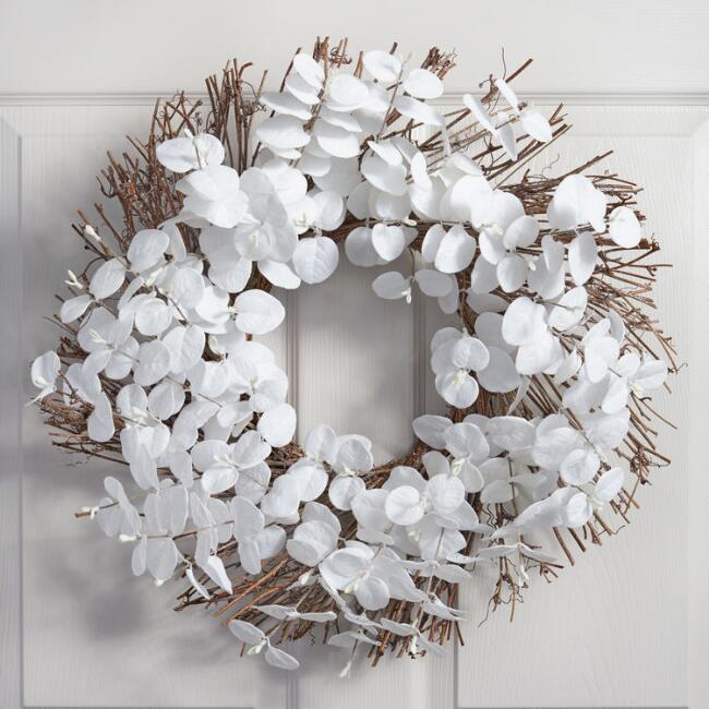 White  Eucalyptus Wreath