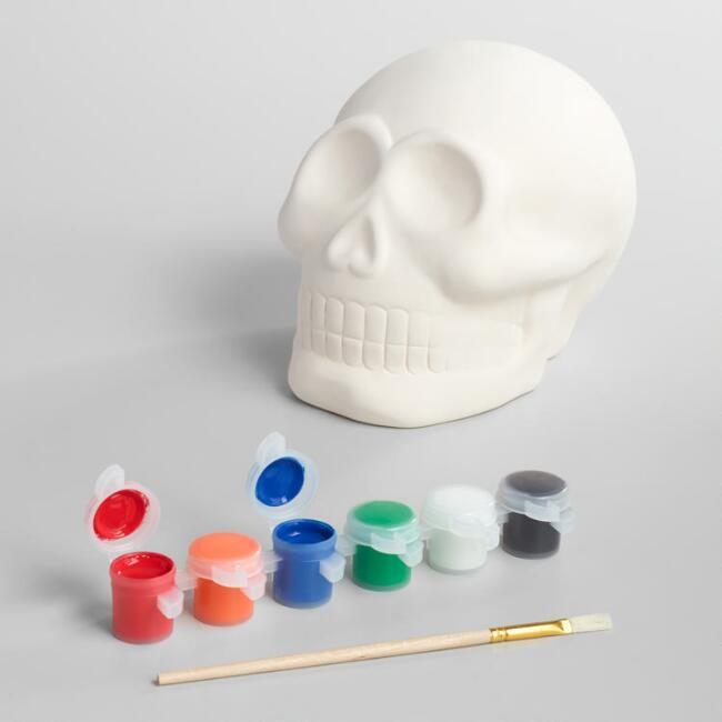 Paint Your Own Dia de los Muertos Skull