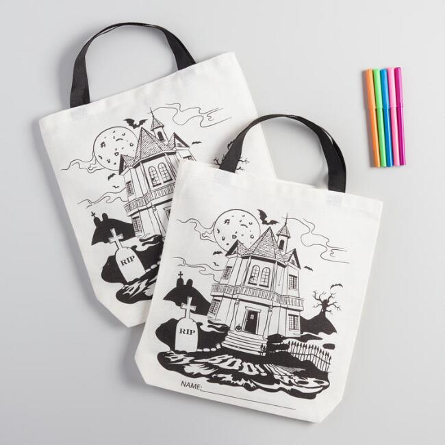 Haunted Mansion Color Your Own Tote Set of 2
