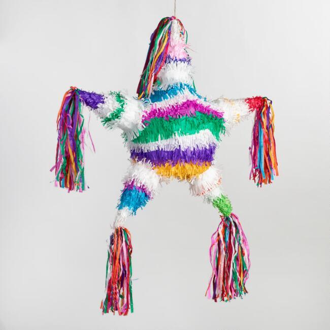 Large Rainbow Star Pinata