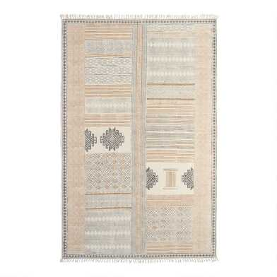 Block Print Cotton Suri Area Rug