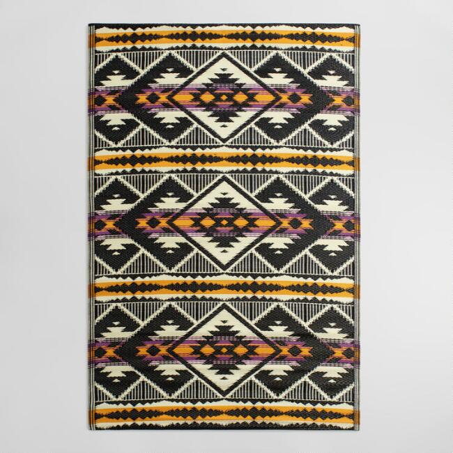 4'x6' Striped Kilim Urban Indoor Outdoor Floor Mat