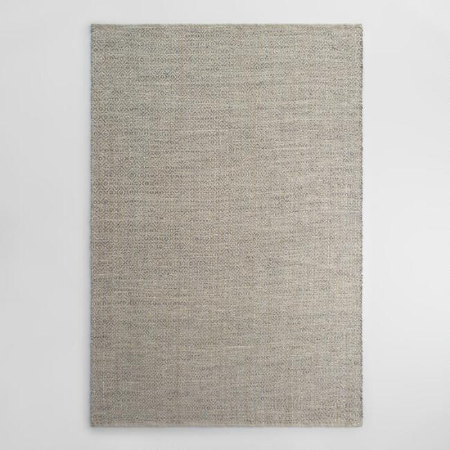 Gray Metallic Woven Jute Alden Area Rug