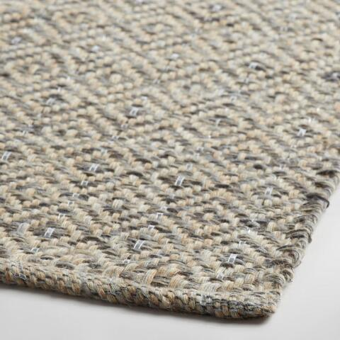 Gray Metallic Woven Jute Alden Area Rug World Market
