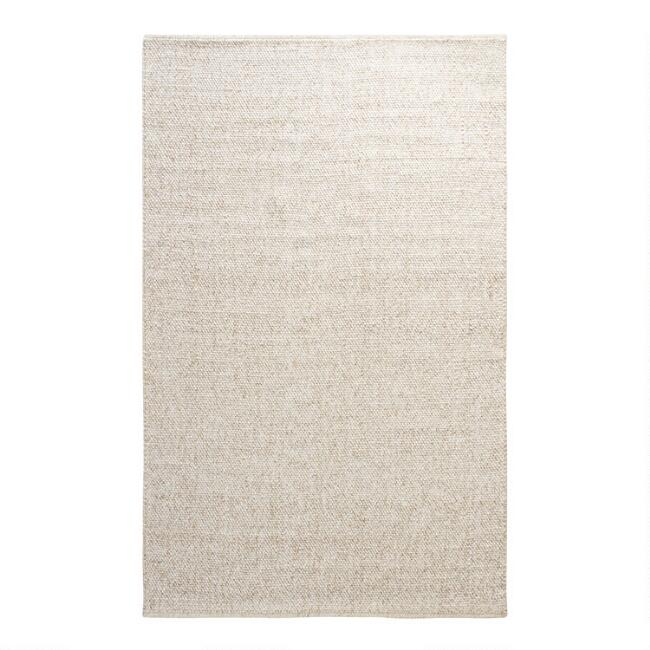 Ivory Tonal Sweater Wool Emilie Area Rug