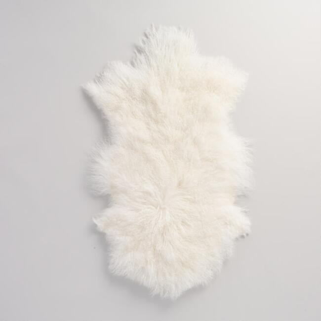 20 X35 White Mongolian Sheepskin Area Rug World Market