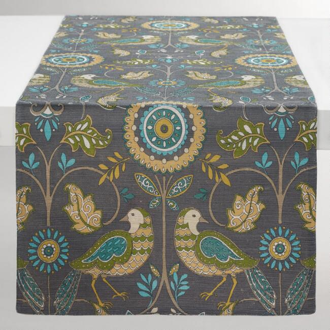 Heidi Bird Jute Table Runner