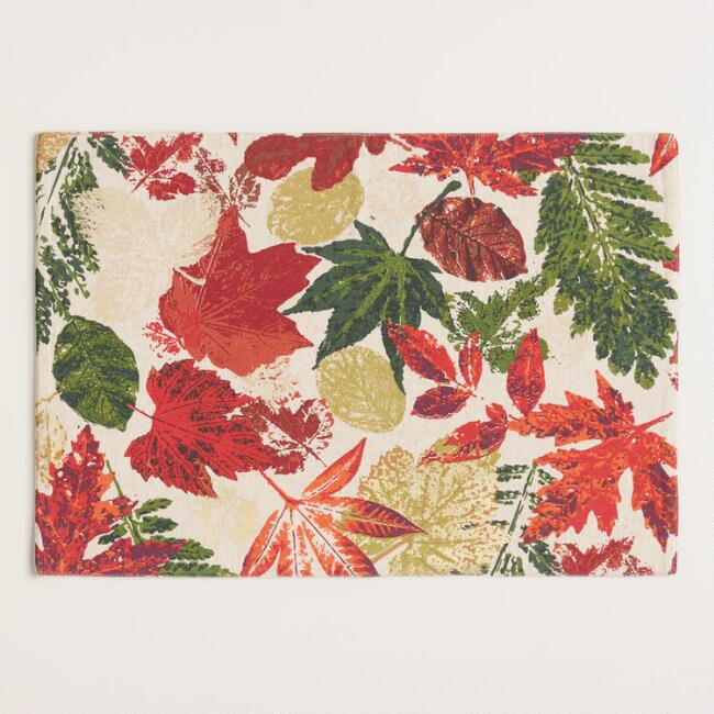 Fall Leaves Ingrid Placemats Set of 4