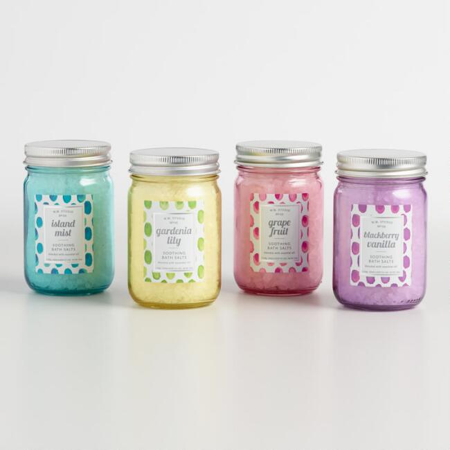 Mason Jar Bath Salt Collection