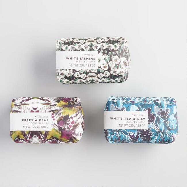 Castelbel Watercolor Floral Bar Soap Collection