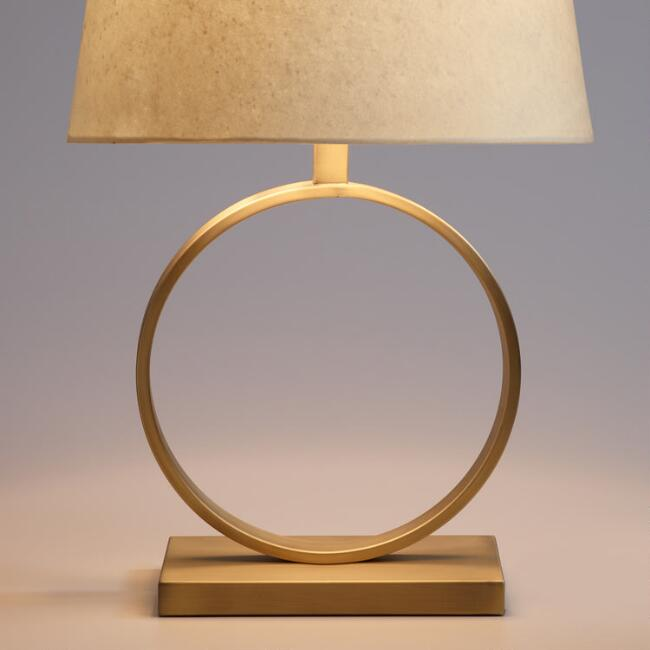 Circular Brass Sloane Table Lamp Base