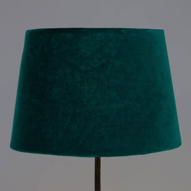 Everglade teal velvet accent lamp shade world market mozeypictures Images