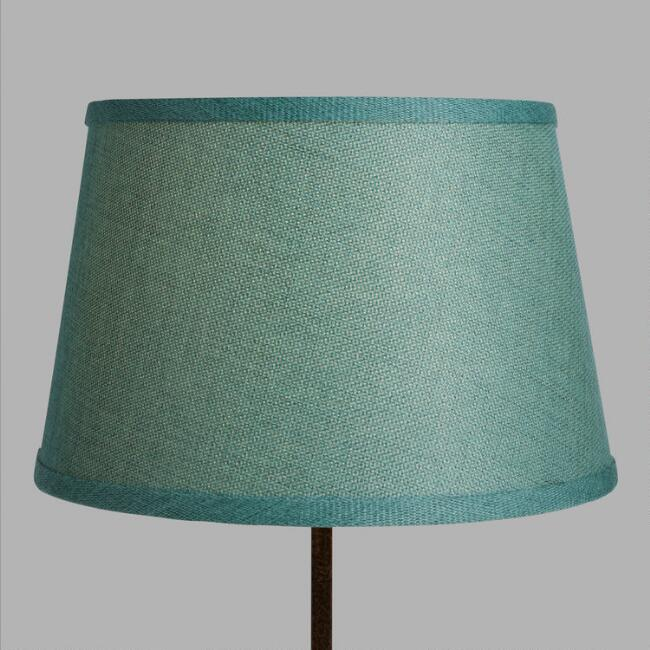 Aqua Linen Accent Lamp Shade