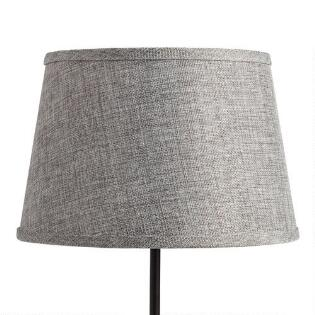 Accent lamps lamp shades base world market gray linen accent lamp shade mozeypictures Choice Image