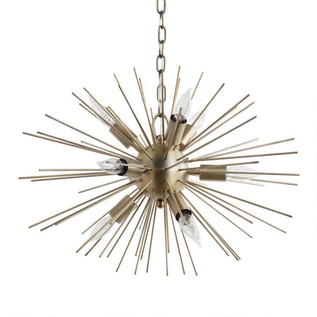 Brass starburst collin chandelier world market aloadofball