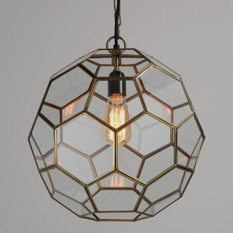 Faceted Gl Paxton Pendant World Market