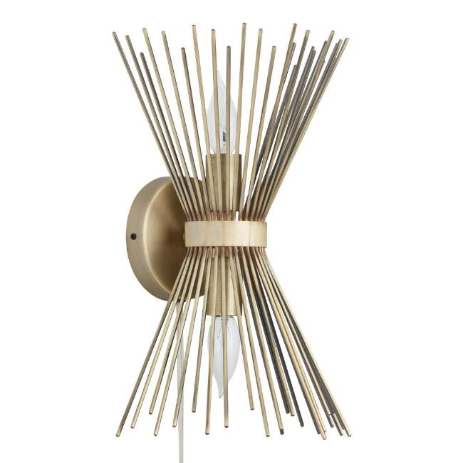 Brass starburst logan wall sconce world market