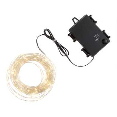 White Micro LED 150 Bulb Battery Operated String Lights