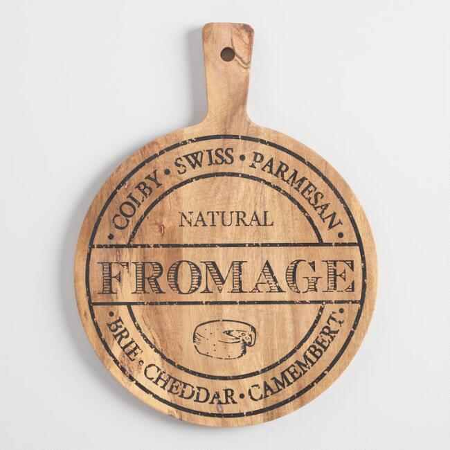 Rustic Wood Cheese Paddle Board