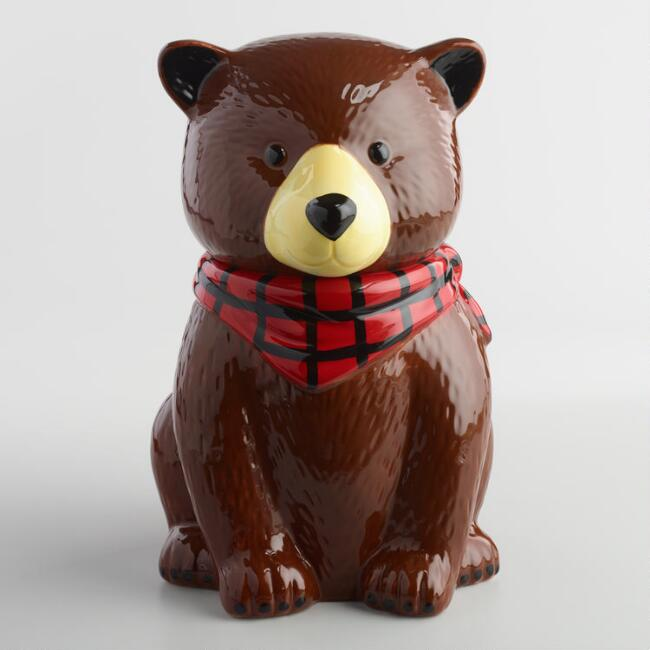 Bear ceramic cookie jar world market