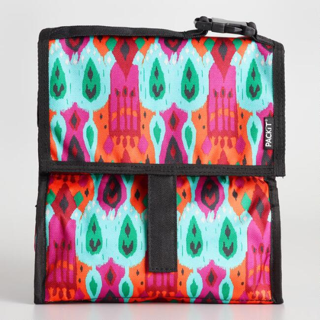 Multicolor Ikat PackIt Freezable Lunch Bag