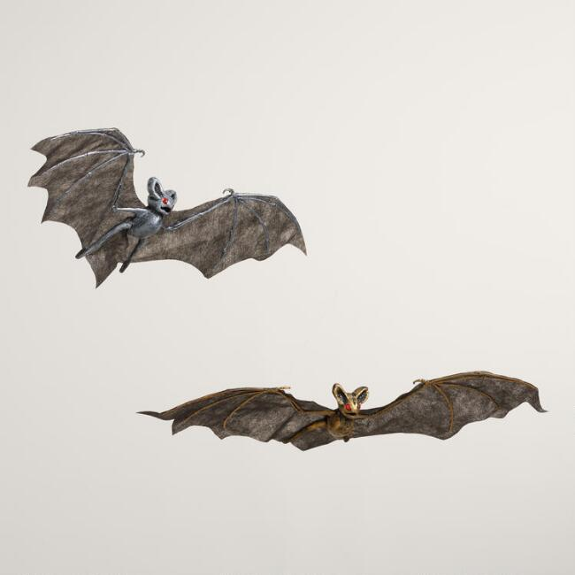 Fabric Hanging Bats Set of 2