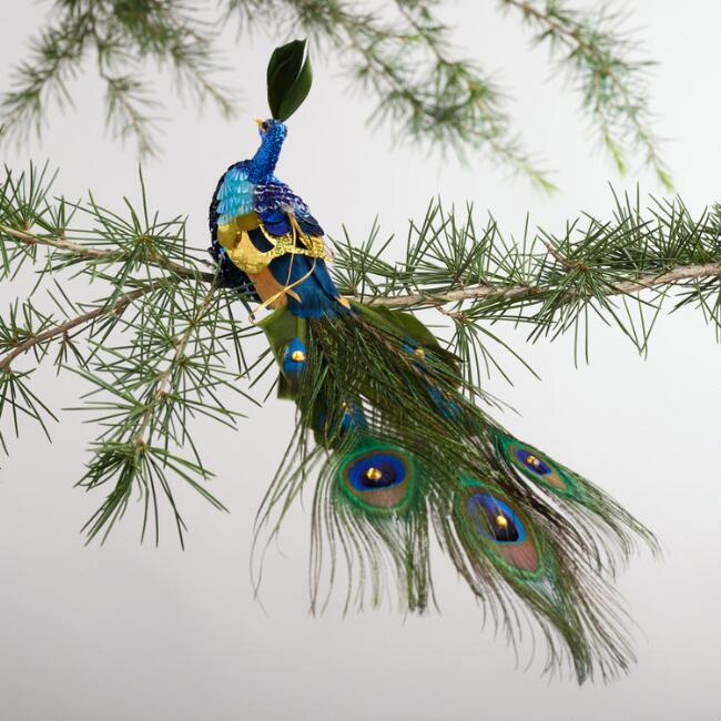 Sequined  Peacock  Ornament