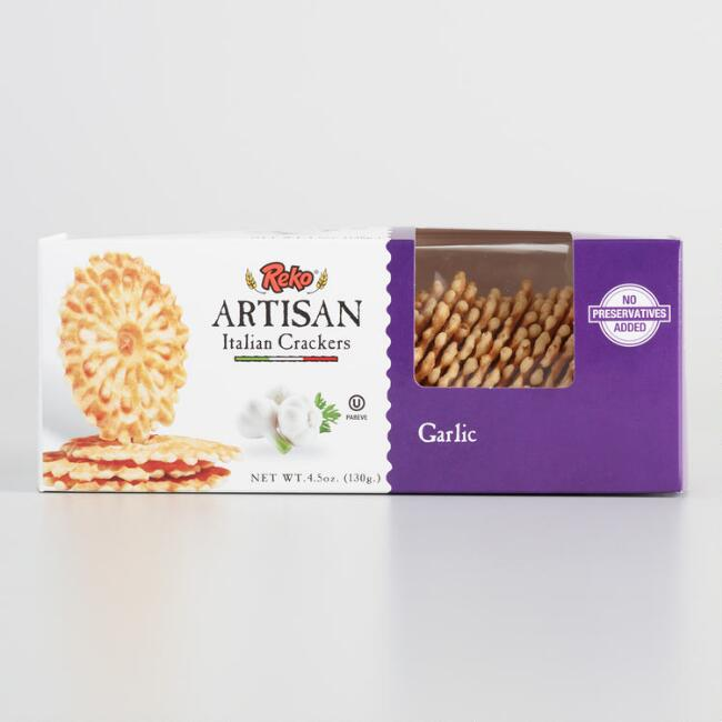 Reko Artisan Italian Garlic Crackers