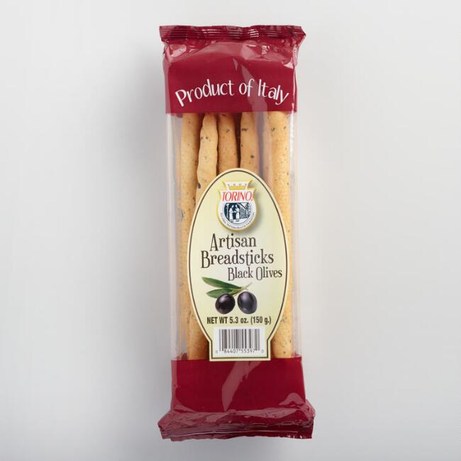 Torino Artisan Black Olive Breadsticks