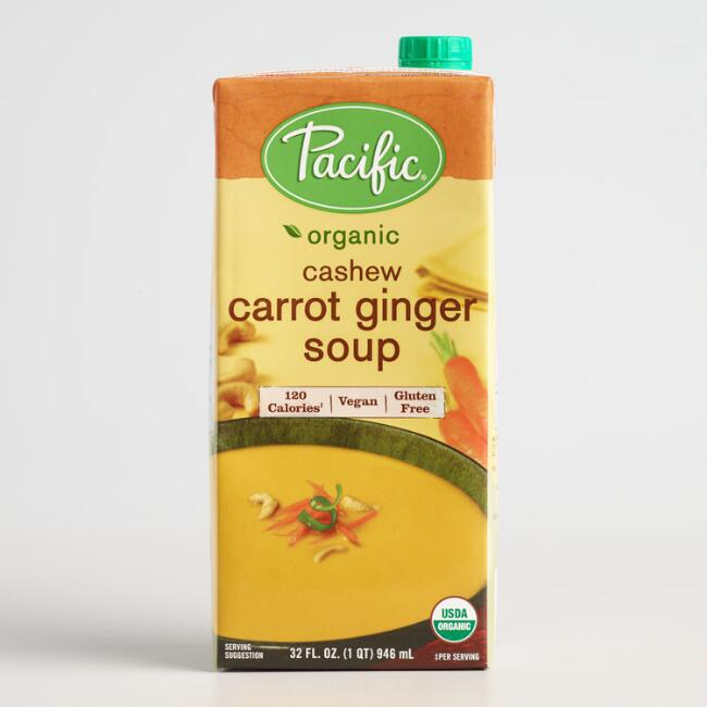 Pacific Soups Cashew Carrot and Ginger Soup Set of 2
