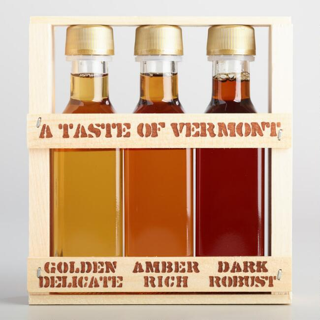 Taste of Vermont Maple Syrup Crate 3 Pack