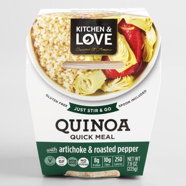 Cucina and Amore Artichoke and Roasted Peppers Quinoa Meal