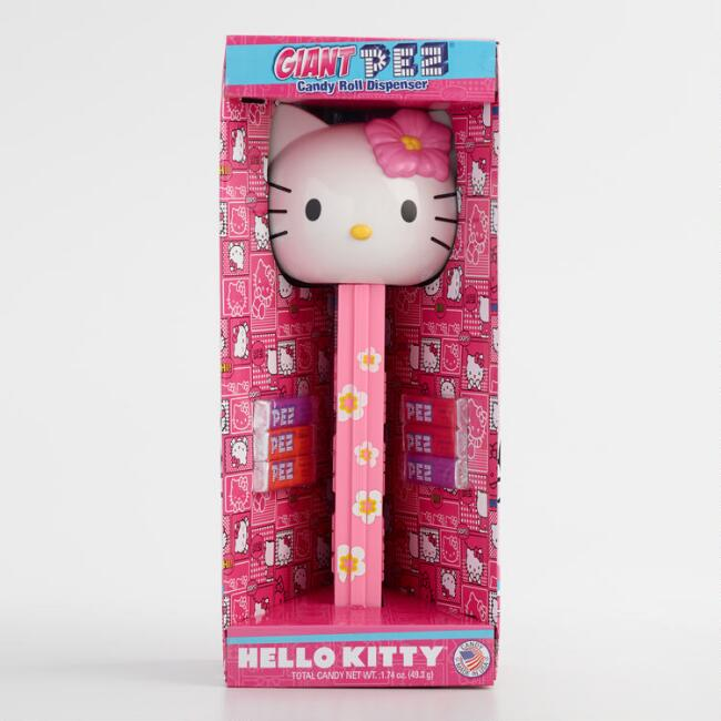 Giant Hello Kitty Pez Dispenser and Candy