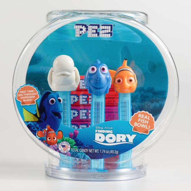 Dory Fishbowl Pez Dispenser and Candy Set