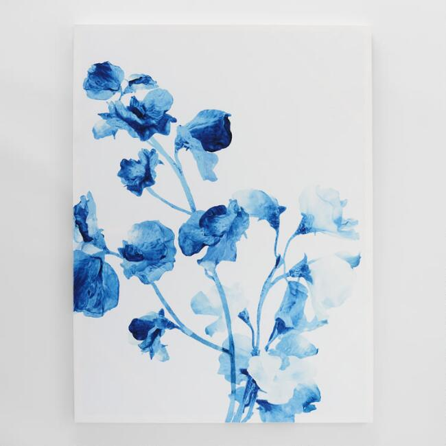 Blue Watercolor Floral by Asia Jensen