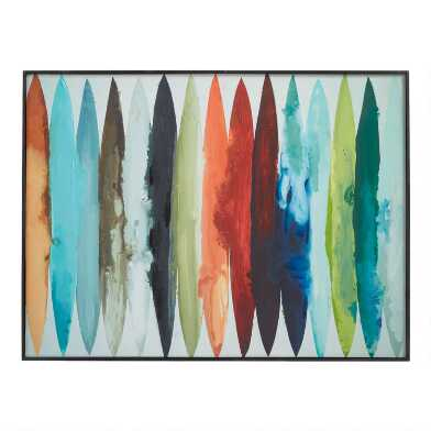 Even Flow By Randy Hibberd Framed Canvas Wall Art